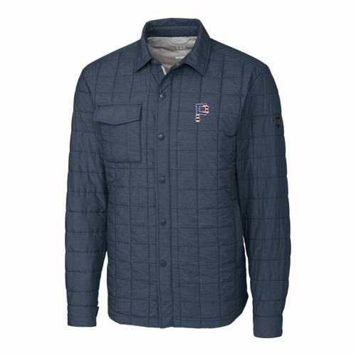 CUTTER & BUCK ピッツバーグ 海賊団 灰色 グレー グレイ メンズファッション コート ジャケット メンズ 【 Pittsburgh Pirates Cutter And Buck Stars And Stripes Full-zip Rainier Shirt Jacket - Gray 】 Gray