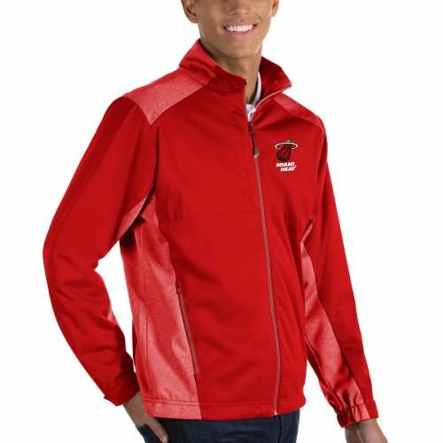 ANTIGUA マイアミ ヒート 黒 ブラック メンズファッション コート ジャケット メンズ 【 Miami Heat Revolve Full-zip Jacket - Black 】 Red