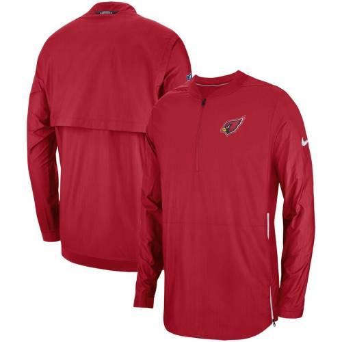 ナイキ NIKE アリゾナ カーディナルス サイドライン 赤 カーディナル メンズファッション コート ジャケット メンズ 【 Arizona Cardinals Sideline Lockdown Quarter-zip Jacket - Cardinal 】 Cardinal