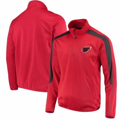 G-III SPORTS BY CARL BANKS アリゾナ カーディナルス 赤 カーディナル メンズファッション コート ジャケット メンズ 【 Arizona Cardinals I Formation Quarter-zip Pullover Jacket - Cardinal 】 Cardinal