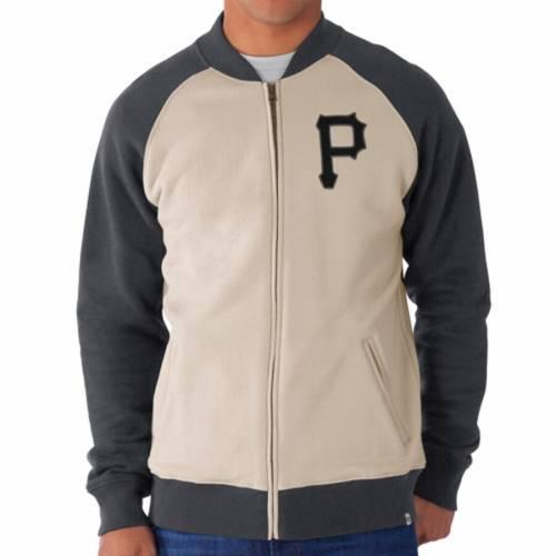 '47 ピッツバーグ 海賊団 トラック メンズファッション コート ジャケット メンズ 【 Pittsburgh Pirates Hanover Full-zip Track Jacket - Cream/gray 】 Cream/gray