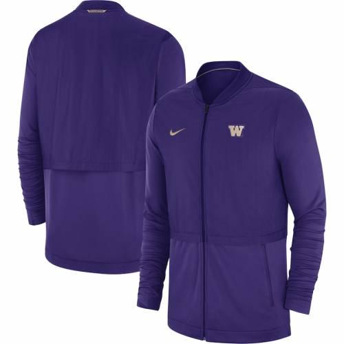ナイキ NIKE ワシントン サイドライン ハイブリッド 紫 パープル メンズファッション コート ジャケット メンズ 【 Washington Huskies 2018 Sideline Hybrid Jacket - Purple 】 Purple