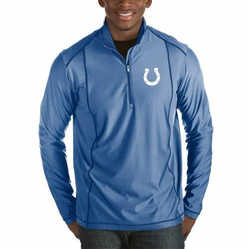 ANTIGUA インディアナポリス コルツ メンズファッション コート ジャケット メンズ 【 Indianapolis Colts Tempo Half-zip Pullover Jacket - Heathered Royal 】 Heathered Royal