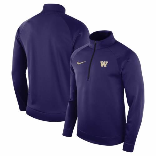 ナイキ NIKE ワシントン サーマ 紫 パープル メンズファッション コート ジャケット メンズ 【 Washington Huskies Therma Top 1/2-zip Jacket - Purple 】 Purple