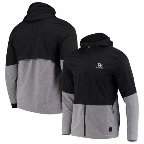 アンダーアーマー UNDER ARMOUR ワシントン パフォーマンス チャコール メンズファッション コート ジャケット メンズ 【 Washington Huskies Full-zip Performance Swacket Jacket - Charcoal 】 Charcoal