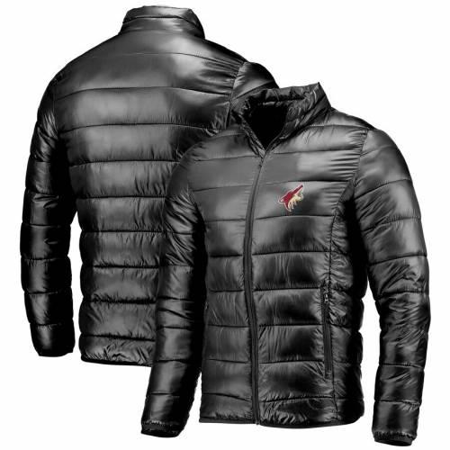 FANATICS BRANDED アリゾナ 黒 ブラック メンズファッション コート ジャケット メンズ 【 Arizona Coyotes Polyester Puffer Jacket - Black 】 Black