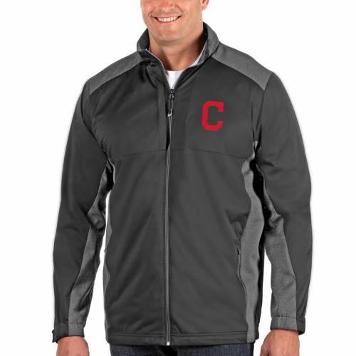 ANTIGUA クリーブランド インディアンズ チャコール メンズファッション コート ジャケット メンズ 【 Cleveland Indians Revolve Big And Tall Full-zip Jacket - Charcoal 】 Charcoal