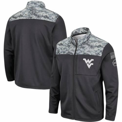 COLOSSEUM バージニア フリース チャコール メンズファッション コート ジャケット メンズ 【 West Virginia Mountaineers Oht Military Appreciation Fleece Full-zip Jacket - Charcoal 】 Charcoal