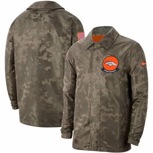 ナイキ NIKE デンバー ブロンコス サイドライン メンズファッション コート ジャケット メンズ 【 Denver Broncos 2019 Salute To Service Sideline Full-snap Lightweight Jacket - Camo 】 Camo