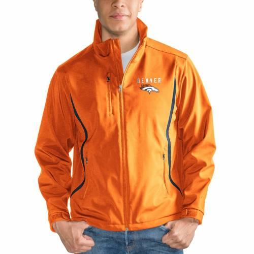 G-III SPORTS BY CARL BANKS デンバー ブロンコス シェル 橙 オレンジ メンズファッション コート ジャケット メンズ 【 Denver Broncos Soft Shell Bonded Full Zip Jacket - Orange 】 Orange