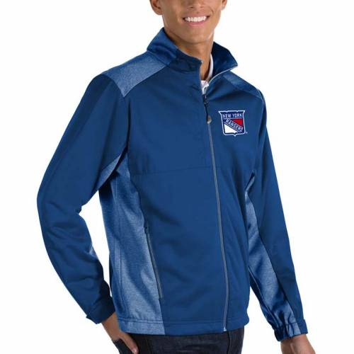 ANTIGUA レンジャーズ チャコール メンズファッション コート ジャケット メンズ 【 New York Rangers Revolve Ii Full Zip Jacket - Charcoal 】 Royal