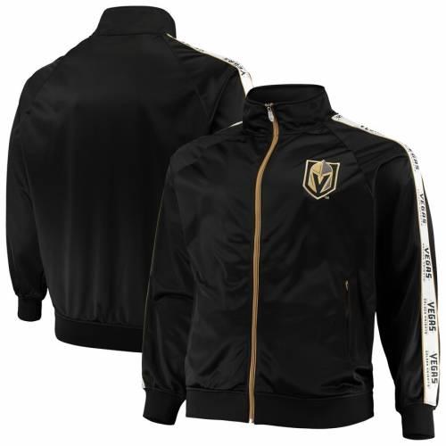 マジェスティック MAJESTIC ラグラン トラック 黒 ブラック メンズファッション コート ジャケット メンズ 【 Vegas Golden Knights Big And Tall Full-zip Raglan Track Jacket - Black 】 Black
