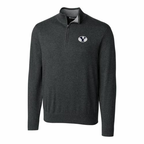 CUTTER & BUCK ブリガムヤング ヘザー チャコール メンズファッション コート ジャケット メンズ 【 Byu Cougars Cutter And Buck Big And Tall Lakemont Half-zip Jacket - Heather Charcoal 】 Heather Charcoal