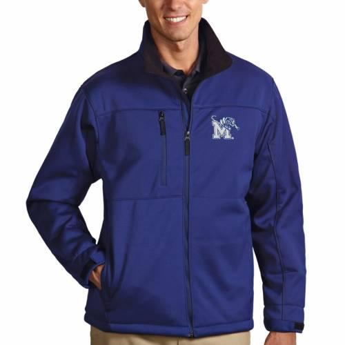 ANTIGUA メンフィス タイガース メンズファッション コート ジャケット メンズ 【 Memphis Tigers Traverse Full-zip Jacket - Royal 】 Royal
