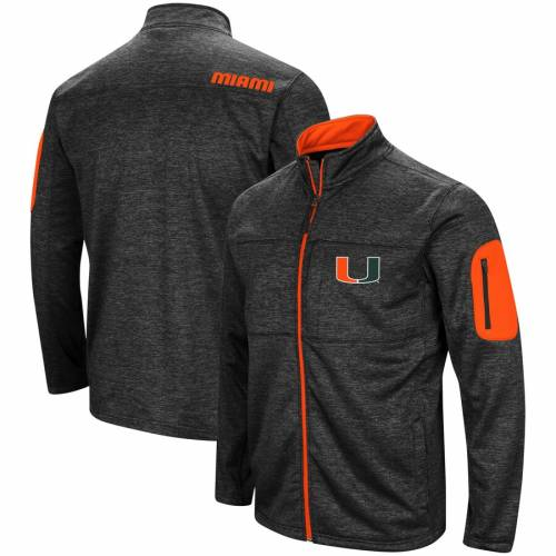 COLOSSEUM マイアミ 黒 ブラック メンズファッション コート ジャケット メンズ 【 Miami Hurricanes Glacier Full Zip Jacket - Black 】 Black