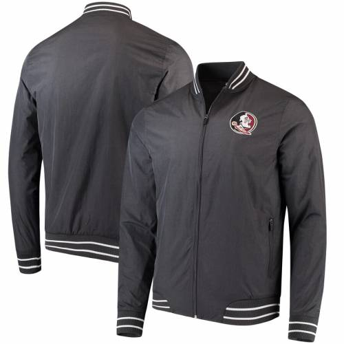 COLOSSEUM フロリダ スケートボード チャコール メンズファッション コート ジャケット メンズ 【 Florida State Seminoles Blade Full-zip Jacket - Charcoal 】 Charcoal