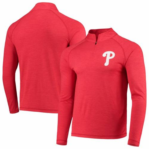 マジェスティック MAJESTIC フィラデルフィア フィリーズ ロゴ クール ラグラン 赤 レッド メンズファッション コート ジャケット メンズ 【 Philadelphia Phillies Striated Primary Logo Cool Base Raglan