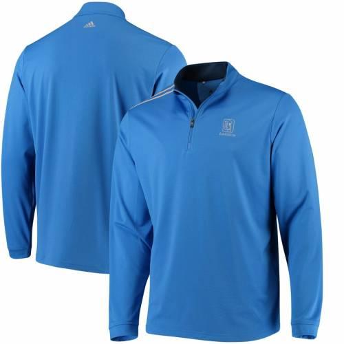 アディダス ADIDAS クラシック メンズファッション コート ジャケット メンズ 【 Tpc Louisiana 3-stripes Classic Quarter-zip Pullover Jacket - Royal 】 Royal