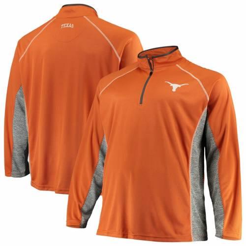 WE ARE TEXAS テキサス 橙 オレンジ メンズファッション コート ジャケット メンズ 【 Texas Longhorns Big And Tall Poly Half-zip Pullover Jacket - Texas Orange 】 Texas Orange