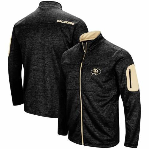 COLOSSEUM コロラド 黒 ブラック メンズファッション コート ジャケット メンズ 【 Colorado Buffaloes Glacier Full Zip Jacket - Black 】 Black