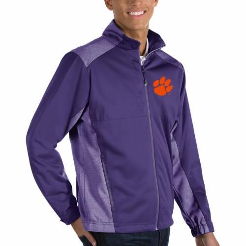 ANTIGUA タイガース 橙 オレンジ メンズファッション コート ジャケット メンズ 【 Clemson Tigers Revolve Full-zip Jacket - Orange 】 Purple