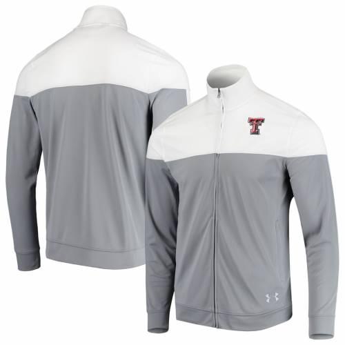 アンダーアーマー UNDER ARMOUR テキサス テック 赤 レッド レイダース カレッジ トラック 白 ホワイト メンズファッション コート ジャケット メンズ 【 Texas Tech Red Raiders College Track Jacket -