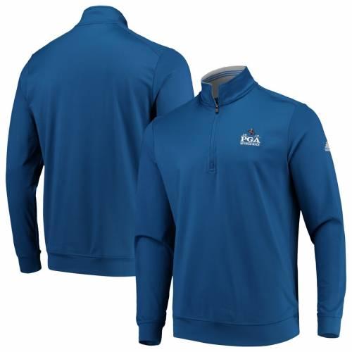 アディダス ADIDAS クラシック クラブ 青 ブルー メンズファッション コート ジャケット メンズ 【 2019 Pga Championship Classic Club 1/4 Zip Pullover Jacket - Blue 】 Blue