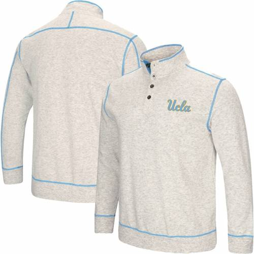 COLOSSEUM 灰色 グレー グレイ メンズファッション コート ジャケット メンズ 【 Ucla Bruins Bourbon Bowl 1/2-button Up Jacket - Heathered Gray 】 Heathered Gray