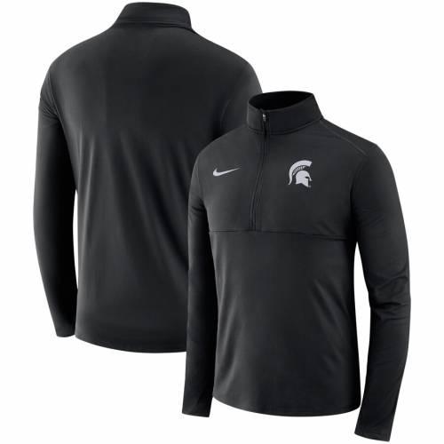 ナイキ NIKE ミシガン スケートボード コア パフォーマンス 黒 ブラック メンズファッション コート ジャケット メンズ 【 Michigan State Spartans Core Half-zip Pullover Performance Jacket - Black 】 Black