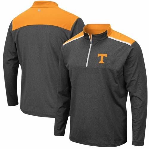 COLOSSEUM テネシー チャコール メンズファッション コート ジャケット メンズ 【 Tennessee Volunteers Snowball Windshirt Quarter-zip Pullover Jacket - Heathered Charcoal 】 Heathered Charcoal
