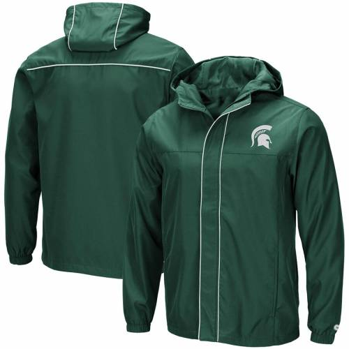 COLOSSEUM ミシガン スケートボード 緑 グリーン メンズファッション コート ジャケット メンズ 【 Michigan State Spartans Giant Slalom Full-zip Jacket - Green 】 Green