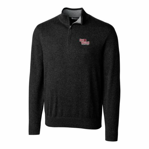 CUTTER & BUCK スケートボード 赤 レッド 黒 ブラック メンズファッション コート ジャケット メンズ 【 Arkansas State Red Wolves Cutter And Buck Big And Tall Lakemont Half-zip Jacket - Black 】 Black