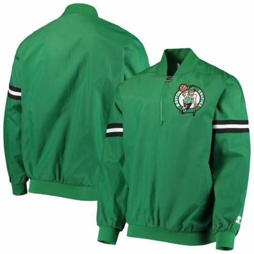 スターター STARTER ボストン セルティックス 緑 グリーン メンズファッション コート ジャケット メンズ 【 Boston Celtics The Jet Ii Crinkle Half-zip Pullover Jacket - Kelly Green 】 Kelly Green