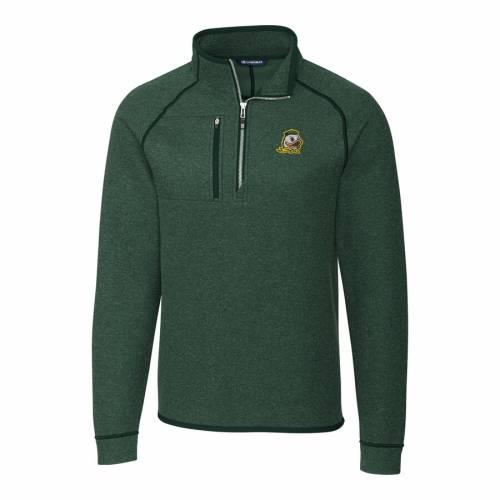 CUTTER & BUCK オレゴン 緑 グリーン メンズファッション コート ジャケット メンズ 【 Oregon Ducks Cutter And Buck Mainsail Half-zip Pullover Jacket - Green 】 Green