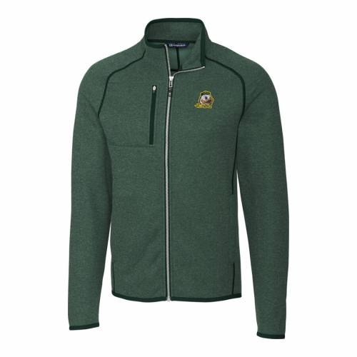 CUTTER & BUCK オレゴン 緑 グリーン メンズファッション コート ジャケット メンズ 【 Oregon Ducks Cutter And Buck Mainsail Full-zip Jacket - Green 】 Green