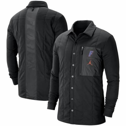 JORDAN BRAND フロリダ カレッジ 黒 ブラック メンズファッション コート ジャケット メンズ 【 Florida Gators College Quilted Full-snap Jacket - Black 】 Black