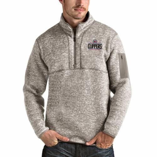 ANTIGUA クリッパーズ ナチュラル メンズファッション コート ジャケット メンズ 【 La Clippers Fortune Quarter-zip Pullover Jacket - Natural 】 Natural