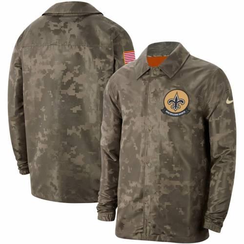 ナイキ NIKE セインツ サイドライン メンズファッション コート ジャケット メンズ 【 New Orleans Saints 2019 Salute To Service Sideline Full-snap Lightweight Jacket - Camo 】 Camo