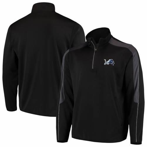 G-III SPORTS BY CARL BANKS デトロイト ライオンズ 黒 ブラック メンズファッション コート ジャケット メンズ 【 Detroit Lions I Formation Quarter-zip Pullover Jacket - Black 】 Black