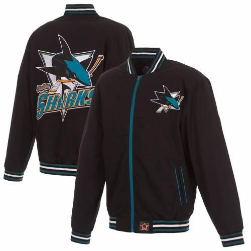 JH DESIGN 黒 ブラック メンズファッション コート ジャケット メンズ 【 San Jose Sharks Twill Jacket - Black 】 Black