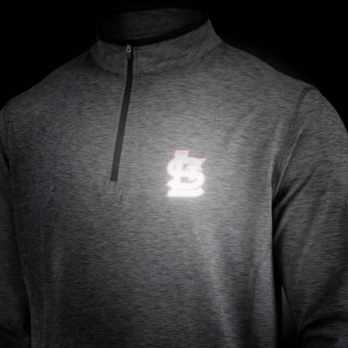 アンダーアーマー UNDER ARMOUR カーディナルス ロゴ パフォーマンス チャコール St. メンズファッション コート ジャケット メンズ 【 St. Louis Cardinals Stretch Reflective Logo Performance Quarter-zip Pul