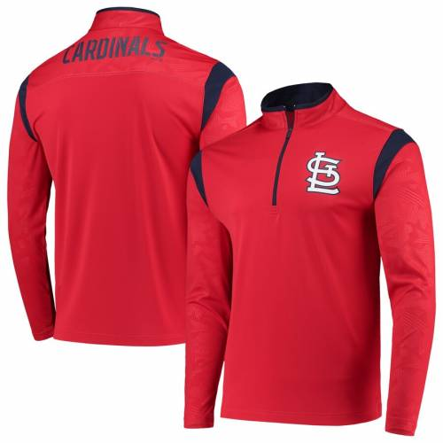 FANATICS BRANDED カーディナルス ディフェンダー 赤 レッド St. メンズファッション コート ジャケット メンズ 【 St. Louis Cardinals Defender Primary Half-zip Pullover Jacket - Red 】 Red