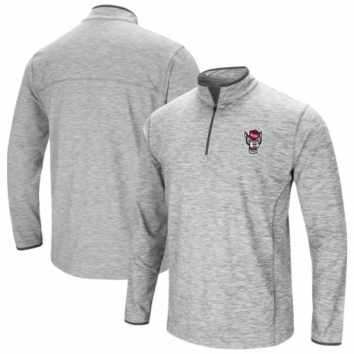 COLOSSEUM スケートボード スプリング 灰色 グレー グレイ メンズファッション コート ジャケット メンズ 【 Nc State Wolfpack Spring Quarter-zip Pullover Windshirt Jacket - Heathered Gray 】 Heathered Gray