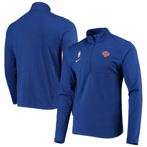 ナイキ NIKE ニックス エレメント ロゴ パフォーマンス 青 ブルー メンズファッション コート ジャケット メンズ 【 New York Knicks Element Logo Performance Half-zip Pullover Jacket - Blue 】 Blue