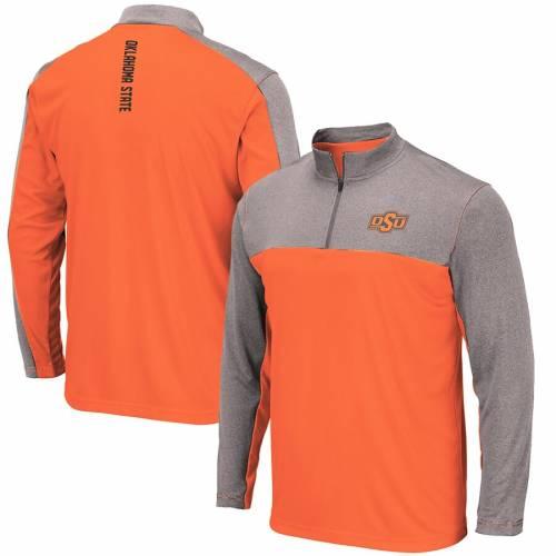 COLOSSEUM スケートボード カウボーイズ 橙 オレンジ メンズファッション コート ジャケット メンズ 【 Oklahoma State Cowboys Luge Windshirt Quarter-zip Pullover Jacket - Orange 】 Orange
