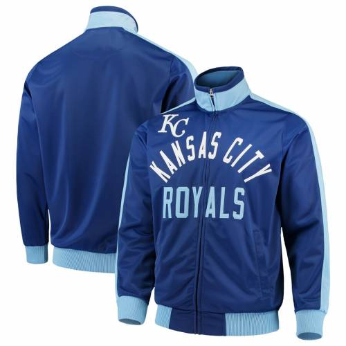 G-III SPORTS BY CARL BANKS カンザス シティ ロイヤルズ トラック メンズファッション コート ジャケット メンズ 【 Kansas City Royals Final Four Full-zip Track Jacket - Royal 】 Royal