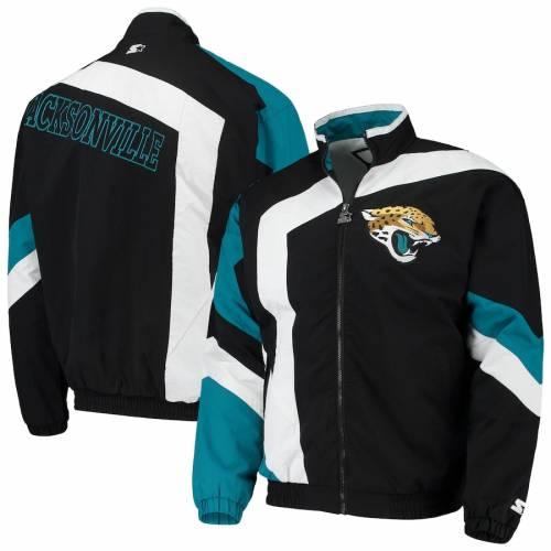 スターター STARTER ジャクソンビル ジャガース メンズファッション コート ジャケット メンズ 【 Jacksonville Jaguars Throwback Star Full-zip Jacket - Black/white 】 Black/white