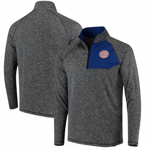 FANATICS BRANDED ニックス チャコール メンズファッション コート ジャケット メンズ 【 New York Knicks Static Quarter-zip Pullover Jacket - Heathered Charcoal 】 Heathered Charcoal