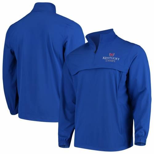 アンダーアーマー UNDER ARMOUR ケンタッキー ウィンドブレーカー メンズファッション コート ジャケット メンズ 【 Kentucky Derby Half-zip Windbreaker Jacket - Royal 】 Royal