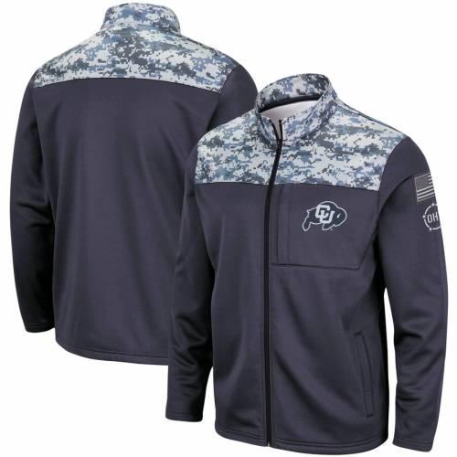 COLOSSEUM コロラド フリース チャコール メンズファッション コート ジャケット メンズ 【 Colorado Buffaloes Oht Military Appreciation Fleece Full-zip Jacket - Charcoal 】 Charcoal